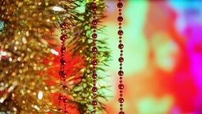Luces fondo, primer del centelleo de la decoración del Año Nuevo de la Navidad metrajes