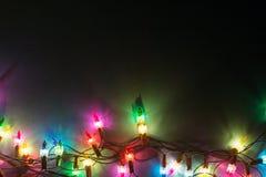 Luces Garland Colorful Background Fotografía de archivo