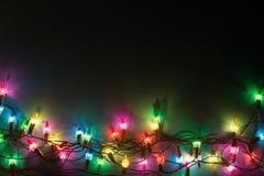 Luces Garland Colorful Background Imagen de archivo