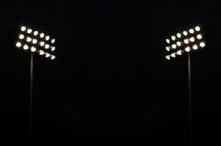 Luces gemelas del estadio Imagen de archivo