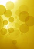 Luces hermosas del bokeh en el fondo del oro Fotos de archivo libres de regalías