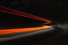 Luces interesantes y abstractas en anaranjado, rojo, amarillo y blanco Fotografía de archivo libre de regalías
