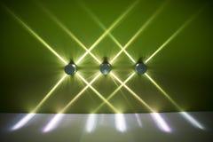 Luces interiores verdes Imágenes de archivo libres de regalías