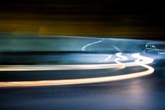 Luces a largo plazo del coche de la exposición Fotografía de archivo libre de regalías