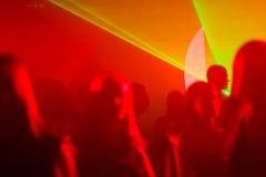 Luces laser del disco Imagen de archivo libre de regalías