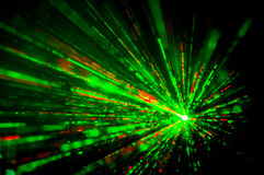 luces laser del disco Foto de archivo