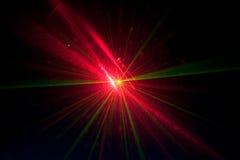 Luces laser verdes y rojas Imágenes de archivo libres de regalías