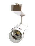 Luces LED, lámpara de la pista LED Iluminación de la oficina Lámpara blanca en un whi Imágenes de archivo libres de regalías