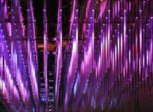 Luces llevadas púrpuras Imagen de archivo libre de regalías