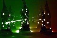 Luces místicas de St. Nick Foto de archivo libre de regalías