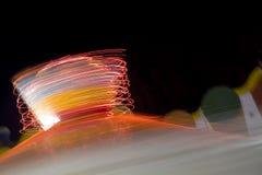 Luces móviles abstractas Fotografía de archivo libre de regalías