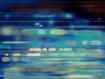 Luces móviles - fondo abstracto azul Foto de archivo