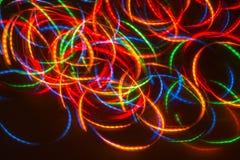 Luces móviles mágicas Imágenes de archivo libres de regalías