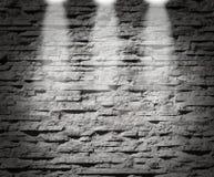 Luces modernas de la decoración de la pared de piedra Fotos de archivo