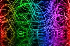 Luces multicoloras fotos de archivo