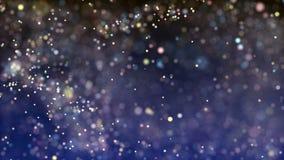 Luces multicoloras con el bokeh Fondo loopable abstracto ilustración del vector