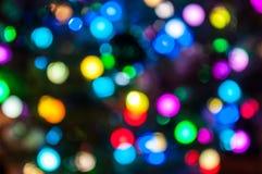 Luces multicoloras del día de fiesta Imagen de archivo libre de regalías
