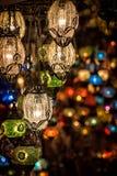 Lámparas multicoloras Foto de archivo libre de regalías