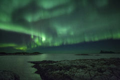 Luces norteñas Imágenes de archivo libres de regalías