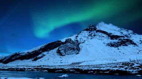 Luces norteñas Fotografía de archivo libre de regalías