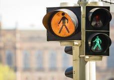 Luces peatonales Imagen de archivo libre de regalías