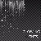 Luces que brillan intensamente por días de fiesta Guirnalda que brilla intensamente transparente Luces que brillan intensamente b Fotos de archivo