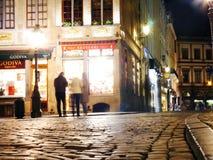Luces que ciegan en Bélgica Imagenes de archivo