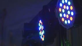 Luces que destellan animadas para la música almacen de metraje de vídeo