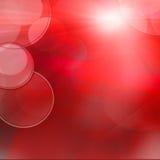 Luces que oscilan rojas abstractas, fondo festivo abstracto con Imagen de archivo