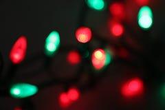 Luces rojas y verdes borrosas Foto de archivo libre de regalías