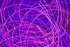 Luces rosadas mágicas Imagen de archivo libre de regalías