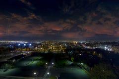 Luces septentrionales de la ciudad de Montreal Fotografía de archivo libre de regalías