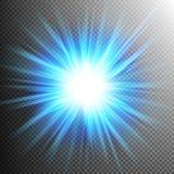 Luces transparentes de la llamarada del efecto luminoso EPS 10 Fotografía de archivo
