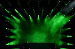 Luces verdes de la etapa Foto de archivo libre de regalías