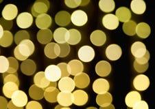 Luces verdes Defocused Imagen de archivo