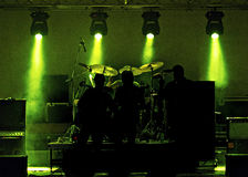 Luces y banda de rock de la etapa Fotografía de archivo libre de regalías