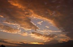Luces y colores de la salida del sol Imagen de archivo