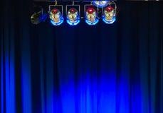 Luces y cortina 2 de la etapa Fotografía de archivo libre de regalías