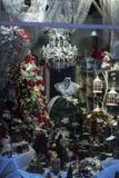 Luces y decoraciones de la Navidad Imagenes de archivo