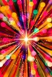 Luces y estrella del zoom fotos de archivo