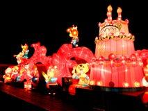 Luces y festival de linternas, jardín japonés de 30 aniversarios adentro Foto de archivo