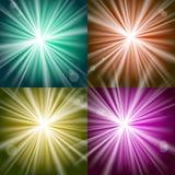 Luces y flashes Foto de archivo libre de regalías