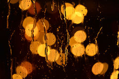 Luces y lluvia Stock Images