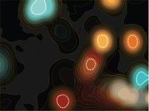 Luces y puntos retros de la falta de definición Foto de archivo libre de regalías