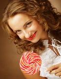 Lucette à disposition Belle fille avec la sucrerie Photographie stock libre de droits