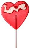 Lucette de forme de coeur sur un bâton Photos libres de droits