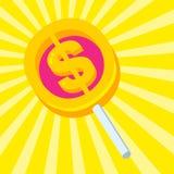 Lucette douce avec un symbole dollar illustration libre de droits