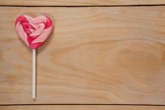Lucette en forme de coeur rose Image libre de droits