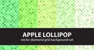 Lucette figée d'Apple de modèle de diamant Photographie stock