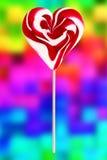 Lucette rouge et blanche au-dessus de fond de pixel Image libre de droits